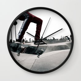 Venice Skatepark II Venice Beach Skatepark Skateboarding poster Skateboarding print Wall Clock