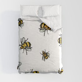 Just Some Beez A - White Comforters