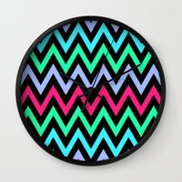 chevron Wall Clocks featuring Chevron by eARTh