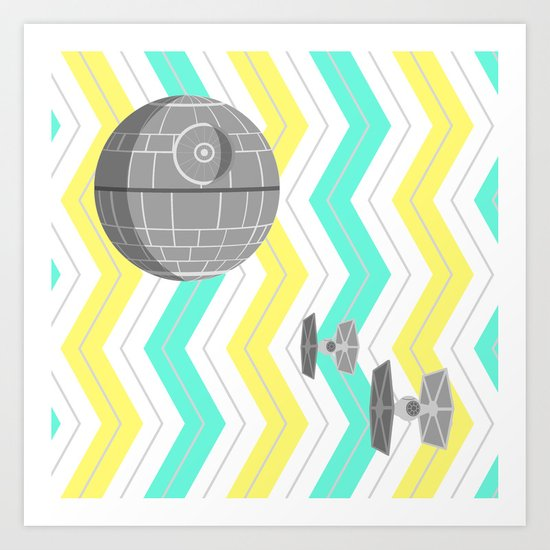 Star Wars Death Star Chevrons Art Print
