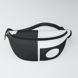 Minimal Black and White Fanny Pack