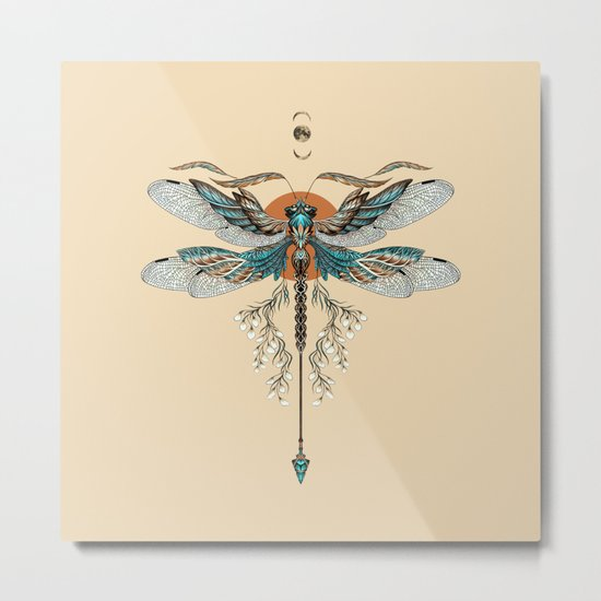 Dragonfly Tattoo Metal Print