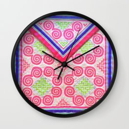 Lovely Hmong snail money bag Wall Clock