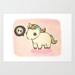Dark Unicorn Art Print