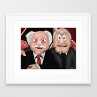 blair waldorf Framed Art Prints featuring Statler & Waldorf by Dano77