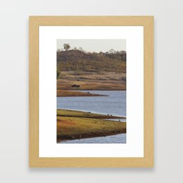 Water road Framed Art Print