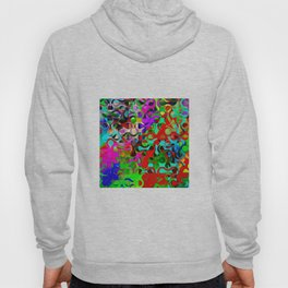 Modern Multi-colored Pattern Abstract Hoody