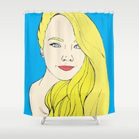 india Shower Curtains featuring India by Pablo Moitzheim