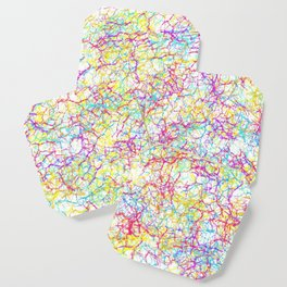 Colorful crackles Coaster