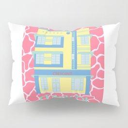 Miami Landmarks - Crescent Pillow Sham