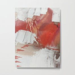California Sun: a minimal, abstract piece in reds and gold by Alyssa Hamilton Art Metal Print