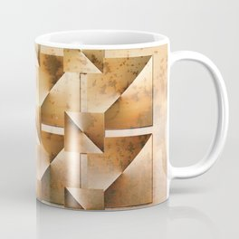 Rusty Geometry Gold Tones Coffee Mug