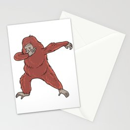 Cute Dabbing Orangutan Gift Idea Stationery Cards