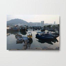 Evening Harbor Metal Print