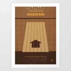 No789 My Chicken Run minimal movie poster Art Print