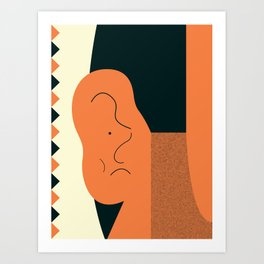 Angry talking makes the ear cranky Art Print