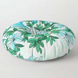 Abstract flowers with background Floor Pillow