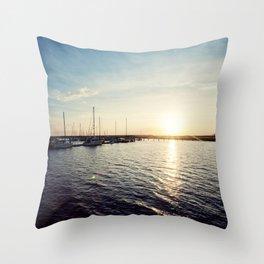 Sails at Sunset Throw Pillow
