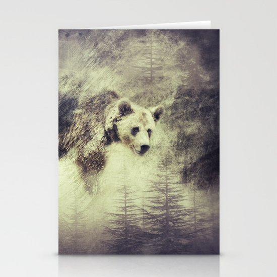 """Forest bear"" Stationery Cards"