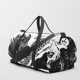 Mermaid Linocut Duffle Bag