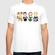 Ladies of Clue White SMALL Mens Fitted Tee