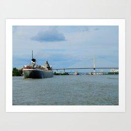 The Cuyahoga and the Veterans Bridge Art Print