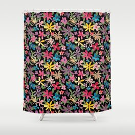Scattered Watercolor Floral Shower Curtain