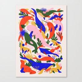 Whales Vertical Canvas Print
