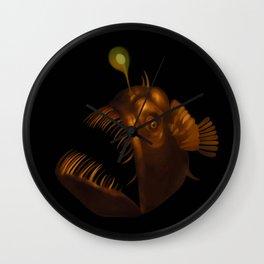 Deep Sea Anglerfish Watercolor Wall Clock
