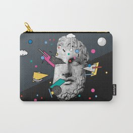"""""""Thoughtless"""" Inner Thoughts Statue Memphis Vapour Wave Carry-All Pouch"""