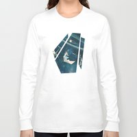 crane Long Sleeve T-shirts featuring My Favourite Swing Ride by Paula Belle Flores