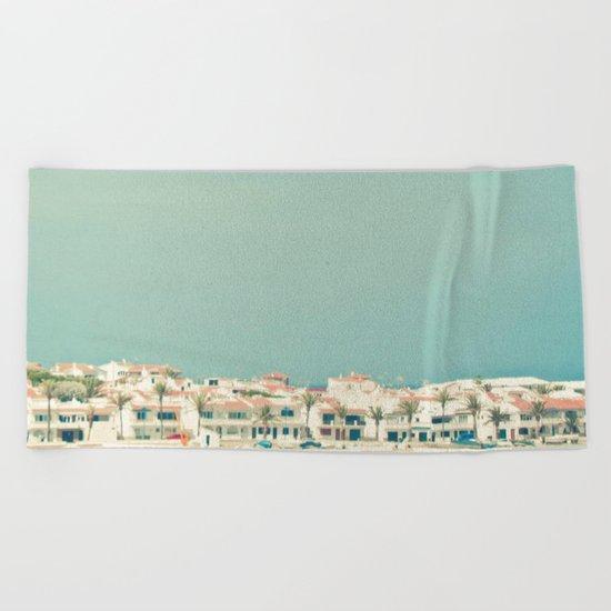 Mediterranean Skyline Beach Towel