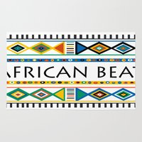 african Area & Throw Rugs featuring African beat by mike lett