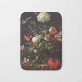 Jan Davidsz de Heem - Vase of Flowers Bath Mat