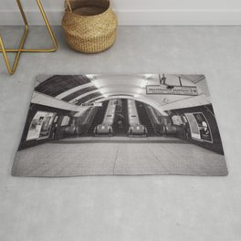 London Underground in black and white Rug