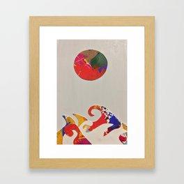 japanese waves inspiration Framed Art Print