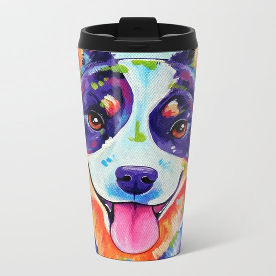 Australian Cattle Dog Metal Travel Mug