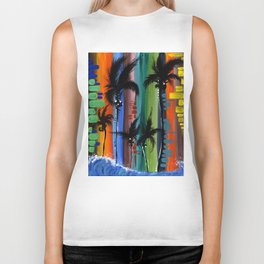 """COLOR IN PARADISE""  Biker Tank"