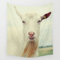 goat Wall Tapestries featuring Goat by Falko Follert Art-FF77