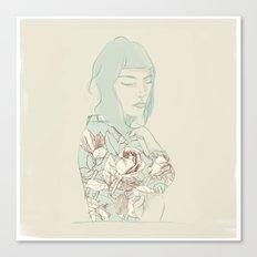 Girl with the blue hair Canvas Print