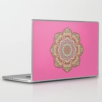islam Laptop & iPad Skins featuring Pink Mandala by Mantra Mandala