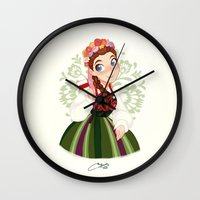 poland Wall Clocks featuring Poland by Melissa Ballesteros Parada