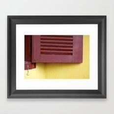 When a door closes, a window opens Framed Art Print