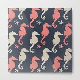 AFE Seahorse Pattern Metal Print