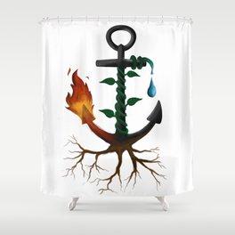 Elemental Anchor Shower Curtain