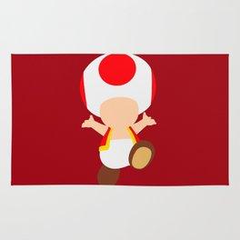 Red Toad (Super Mario) Rug