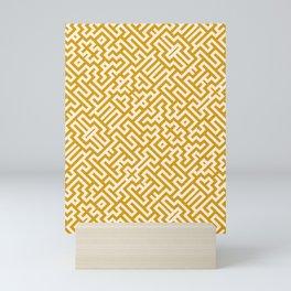 Magic Maze, Gold Vector Pattern Mini Art Print