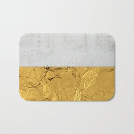 Gold Foil and Concrete Bath Mat