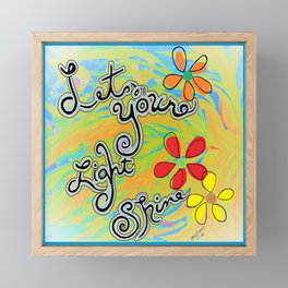 Let Your Light Shine Matthew 5:16 Framed Mini Art Print