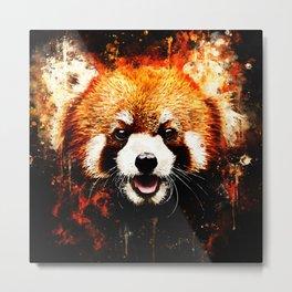 red panda portrait ws std Metal Print